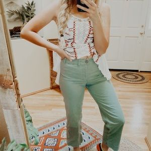 Old Navy Wide Leg Chinos in Dried Herb